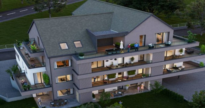 Achat / Vente appartement neuf Rosenau coeur de village proche canal (68128) - Réf. 4782