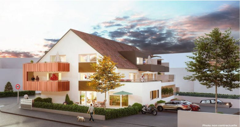 Achat / Vente appartement neuf Niederhausbergen à quelques kilomètre du centre de Strasbourg (67207) - Réf. 3381